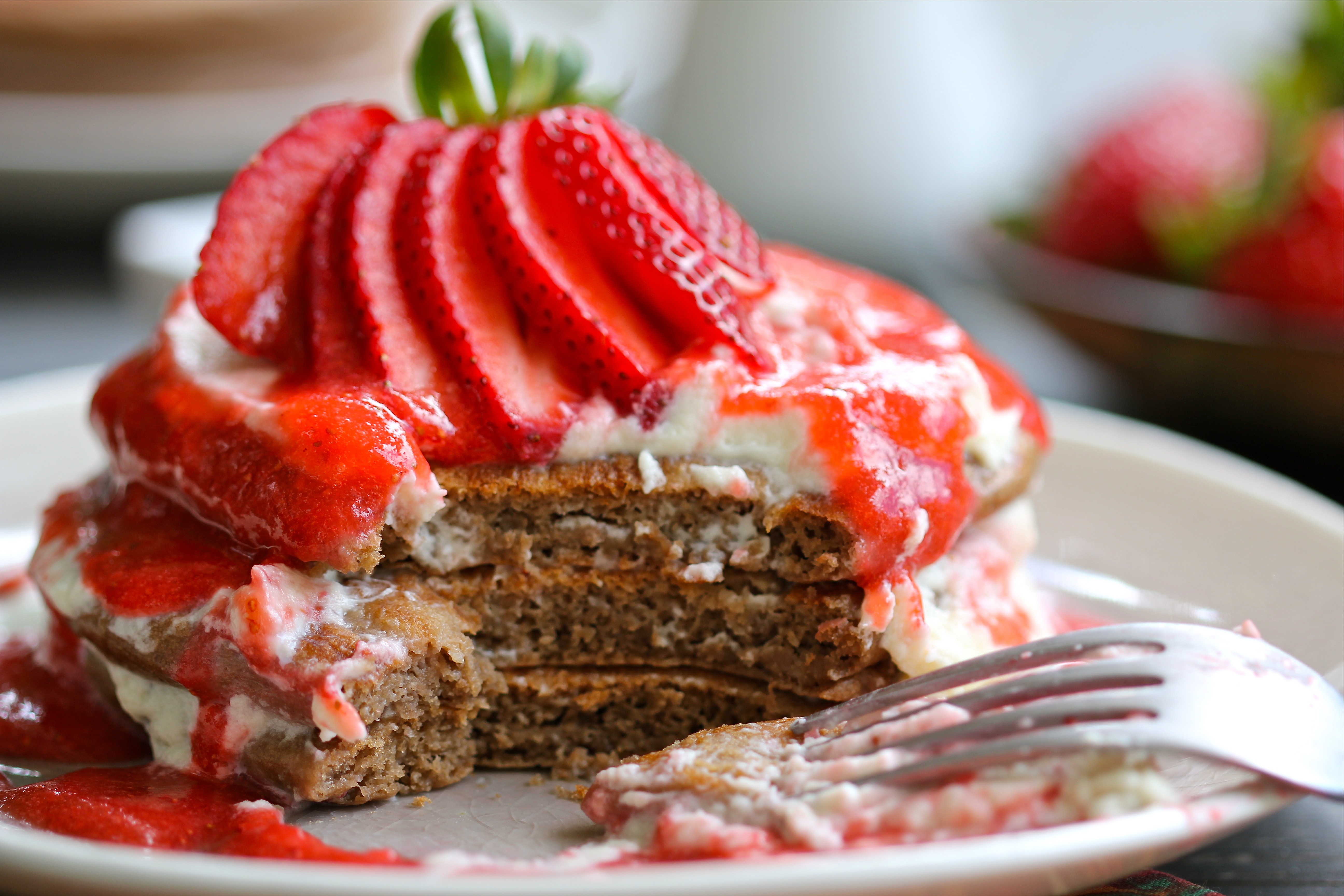 5 Photos of Strawberry Pureed Strawberry Pancakes