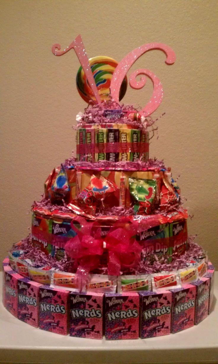 Sweet 16 Candy Birthday Cake Ideas