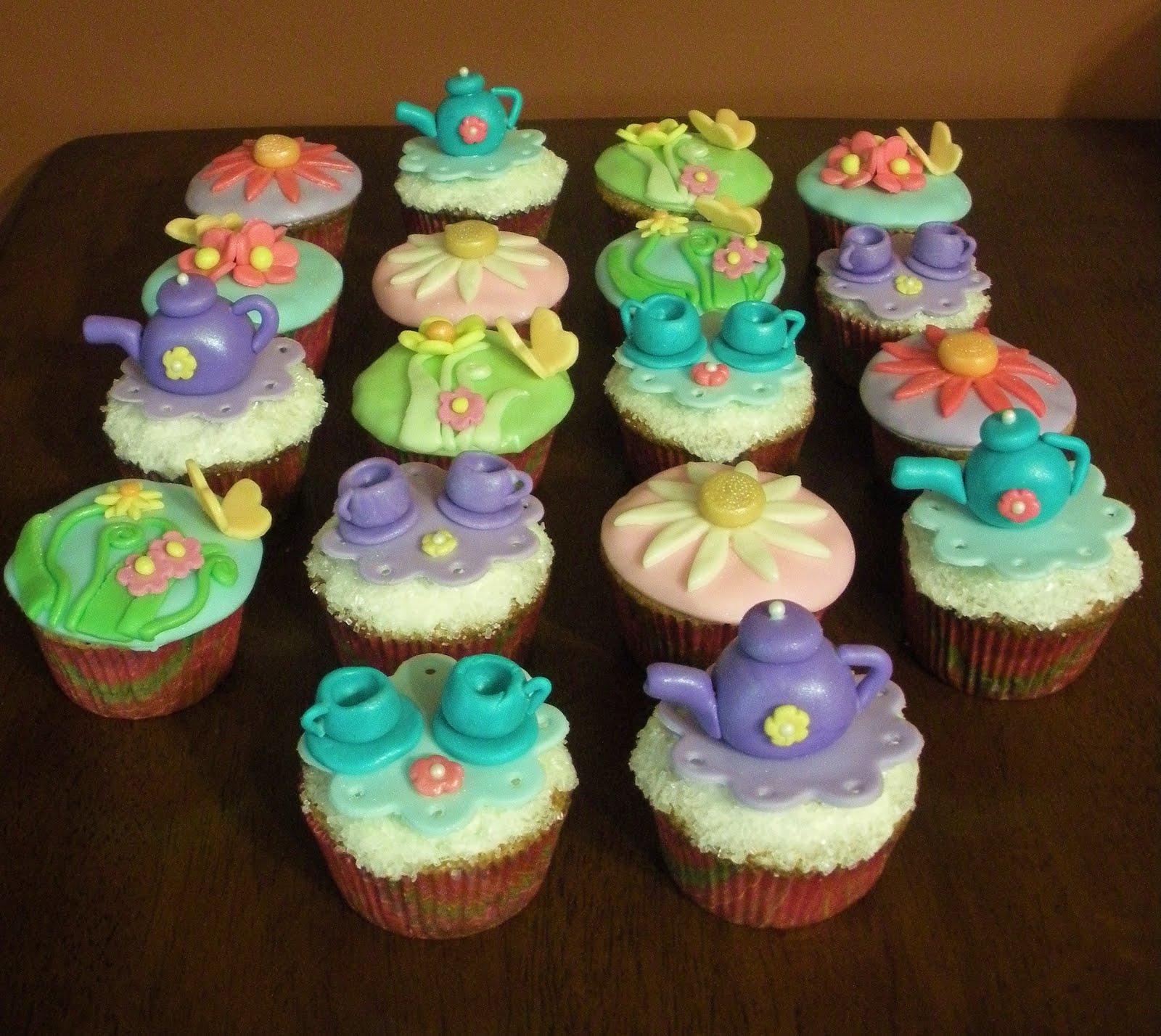 Tea Party Cupcake Ideas