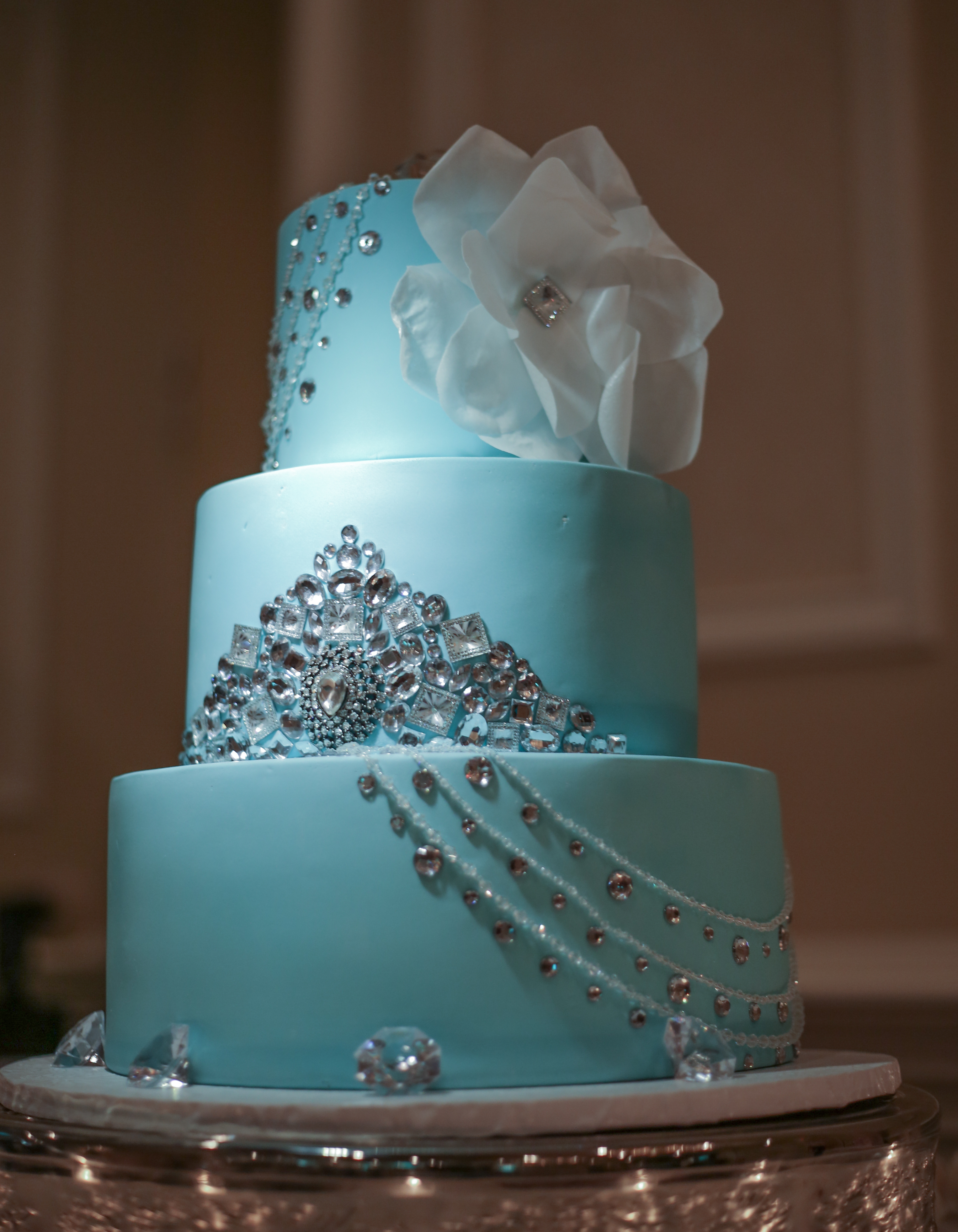 Teal and Silver Birthday Cakes