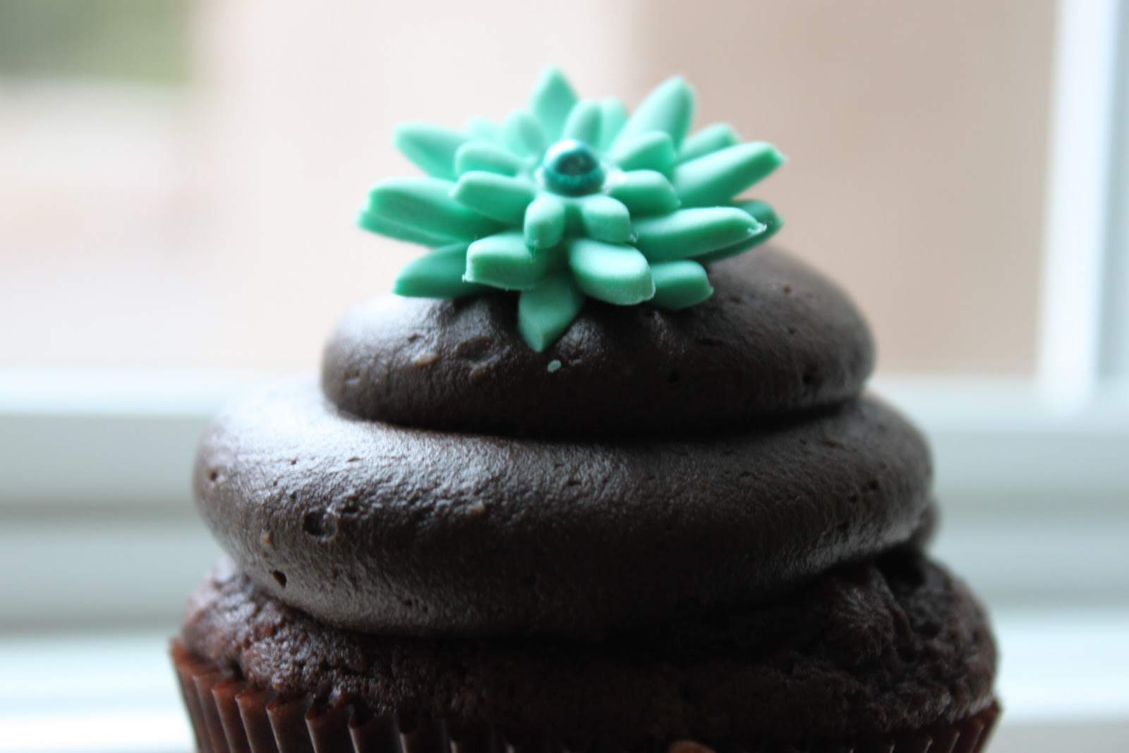 Teal Cupcakes with Frosting