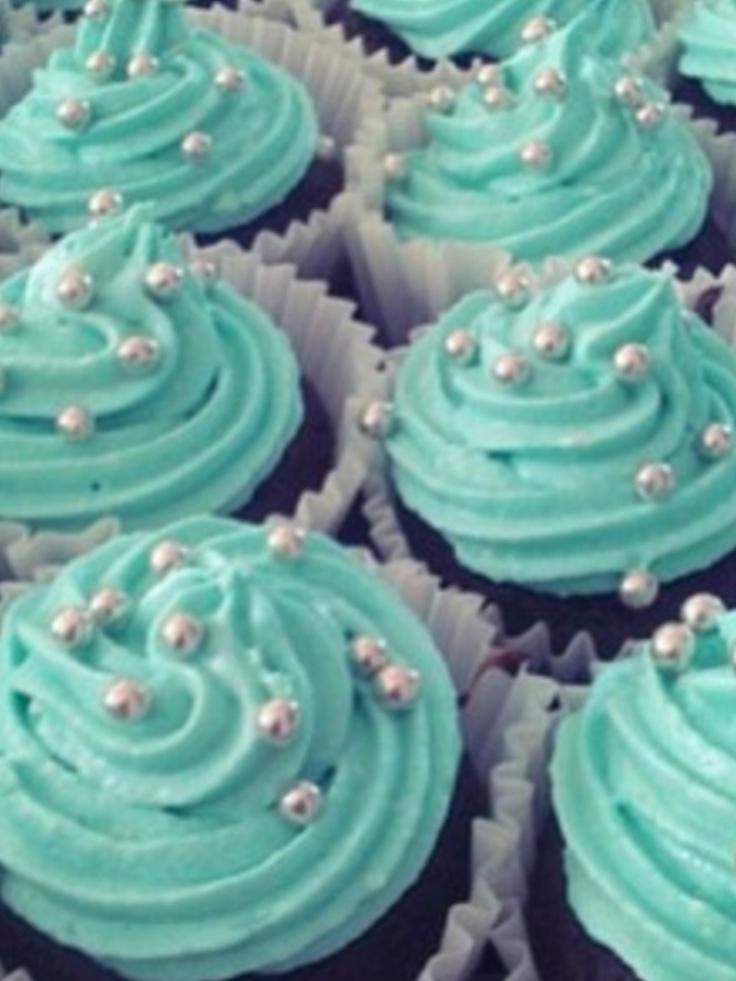 Teal Cupcakes