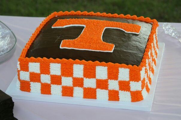 Tennessee Vols Football Birthday Cake