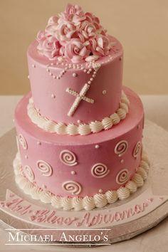Two Tier Buttercream Rose Cake
