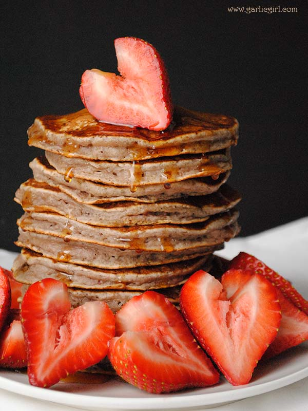 Valentine's Day Strawberry Pancakes