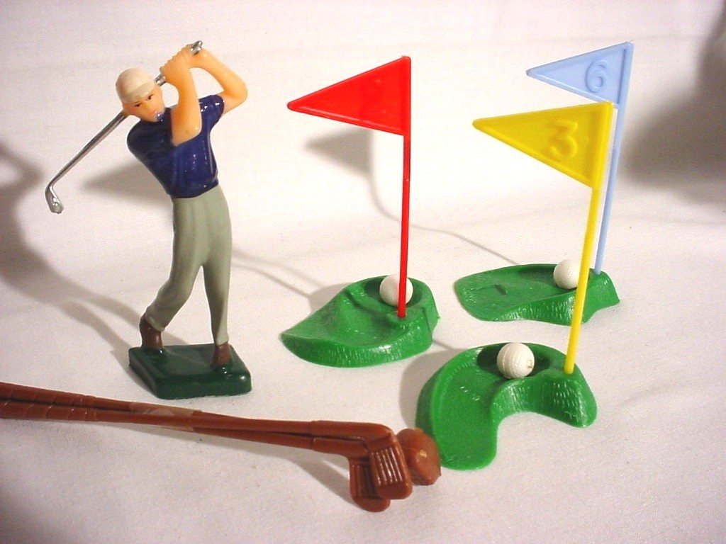 Vintage Wilton Golf Cake Topper