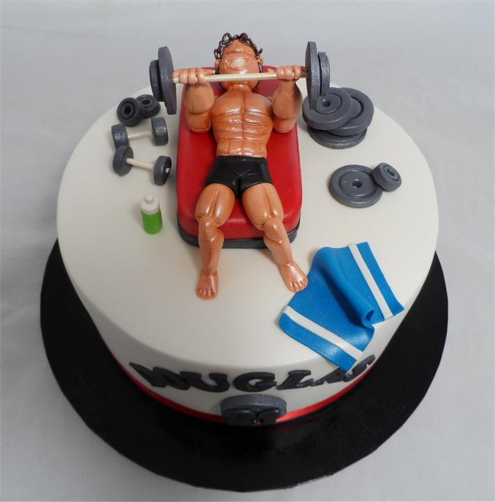 Weight Training Birthday Cake