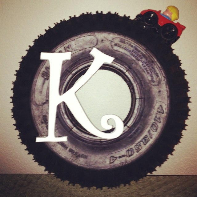 Wreath Made Out of a Tire