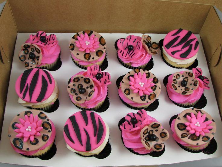 Zebra Print & Hot Pink Cupcake