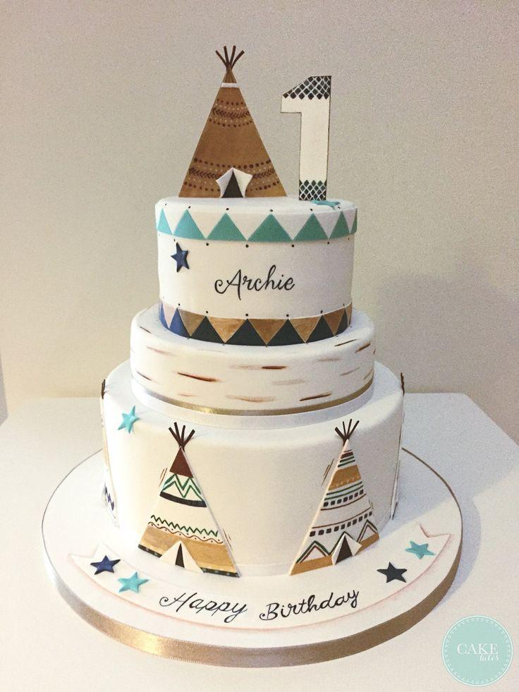 1st Birthday Cake Tee Pee