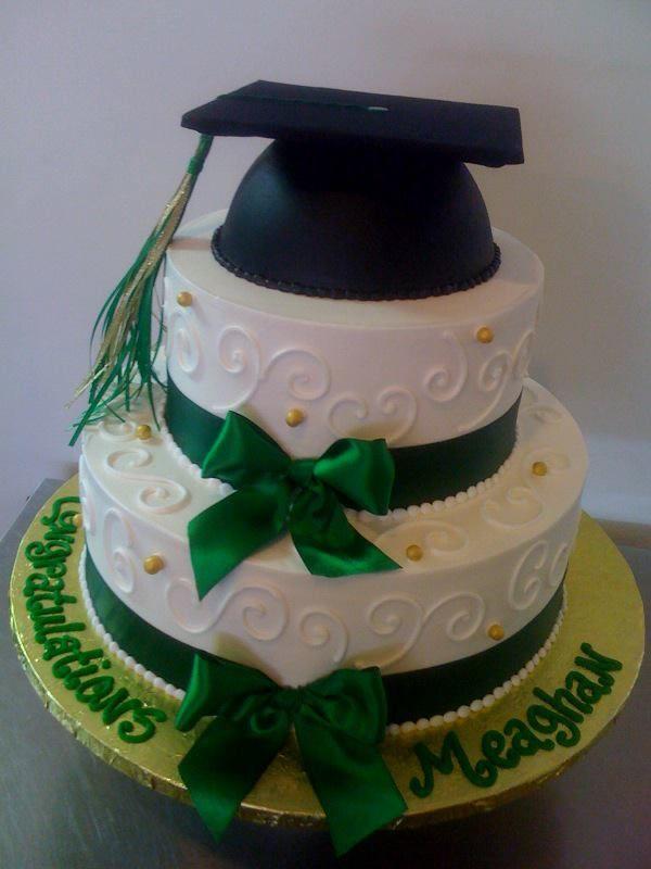 2 Tier Graduation Cake