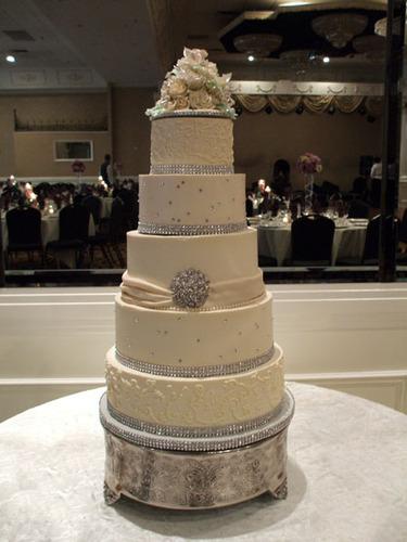 4 Tier Bling Buttercream Wedding Cakes