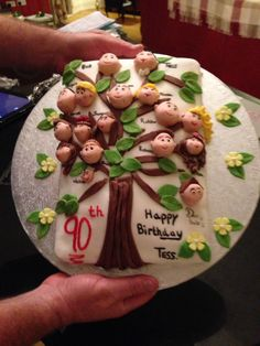 90th Birthday Cake Family Tree