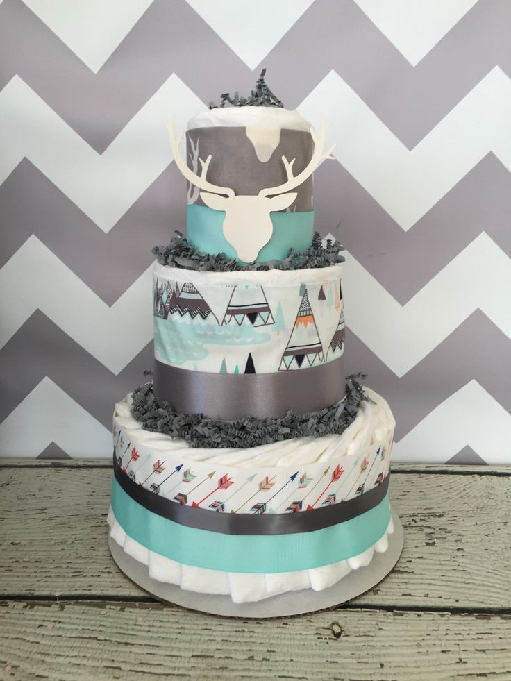 Aztec Tribal for Baby Shower Diaper Cakes