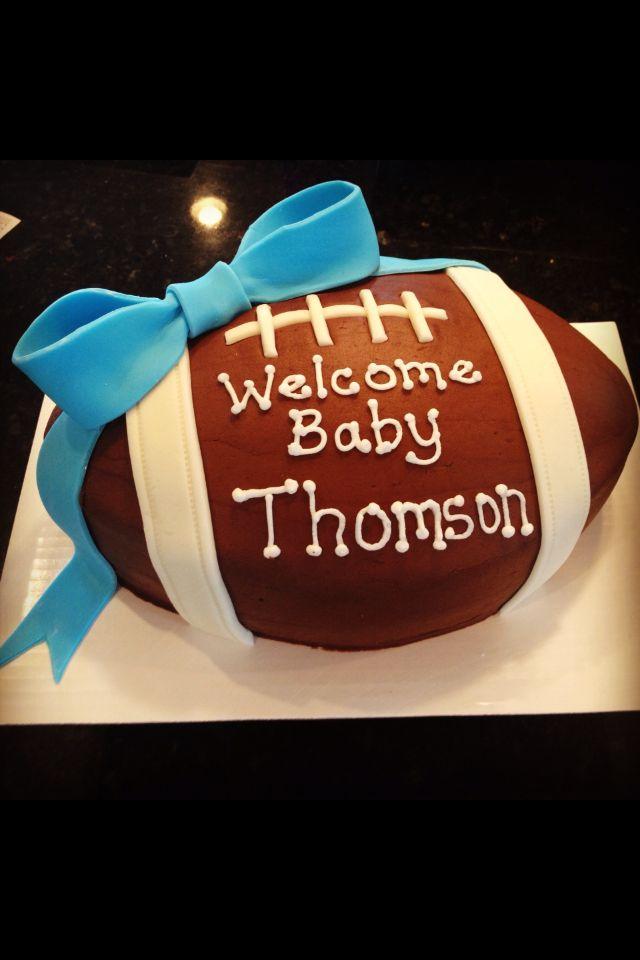 Baby Boy Shower Football Cake