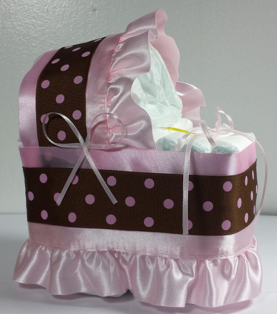 Baby Girl Diaper Cake Bassinet