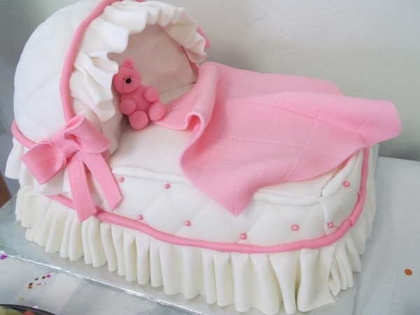 Baby Shower Carriage Cake
