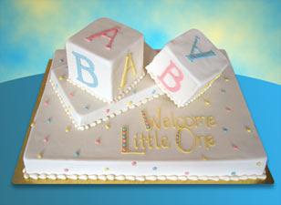 Baby Shower Sheet Cake