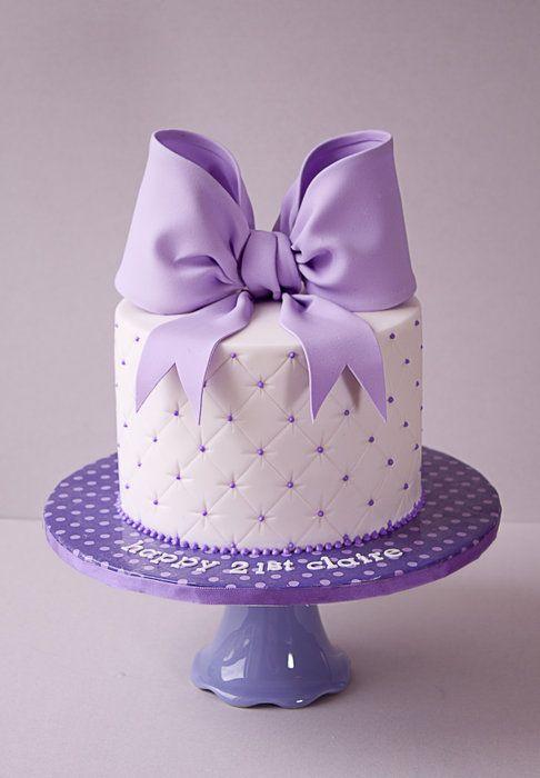 Beautiful Purple Birthday Cake