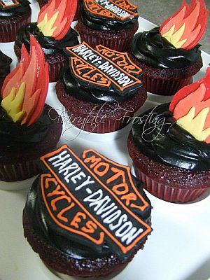 Biker Wedding Cupcake Ideas