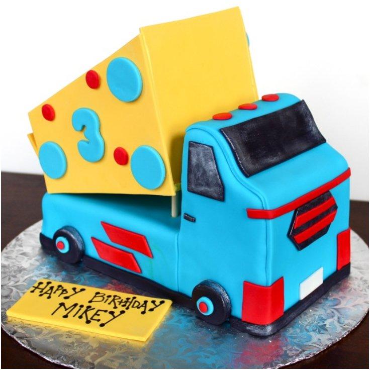 Boys Truck Birthday Cake