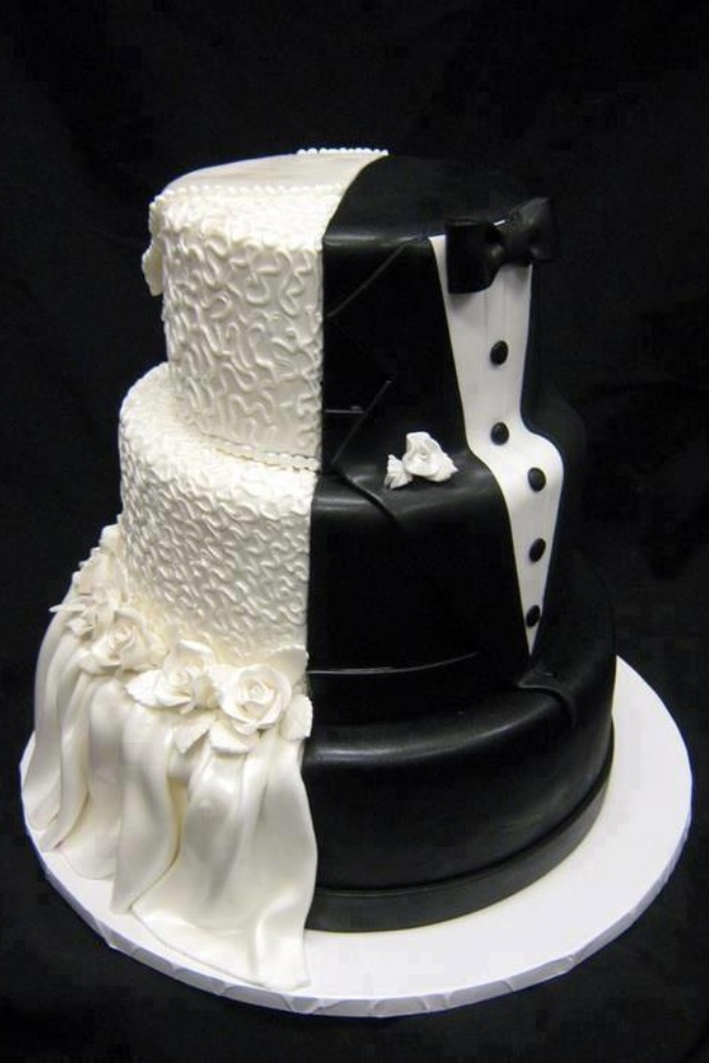 Bride Groom Wedding Cake