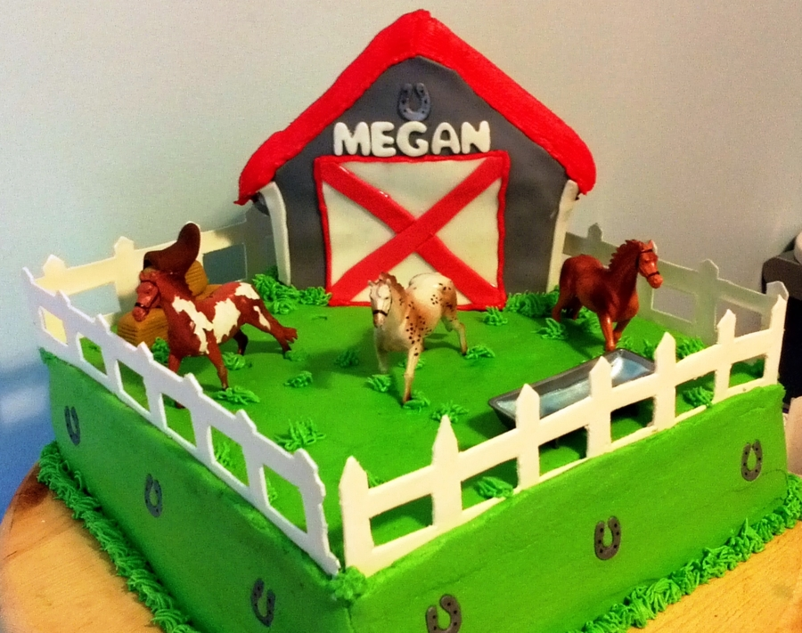 Buttercream Farm Birthday Cake