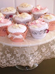 Cake with Vintage Buttons