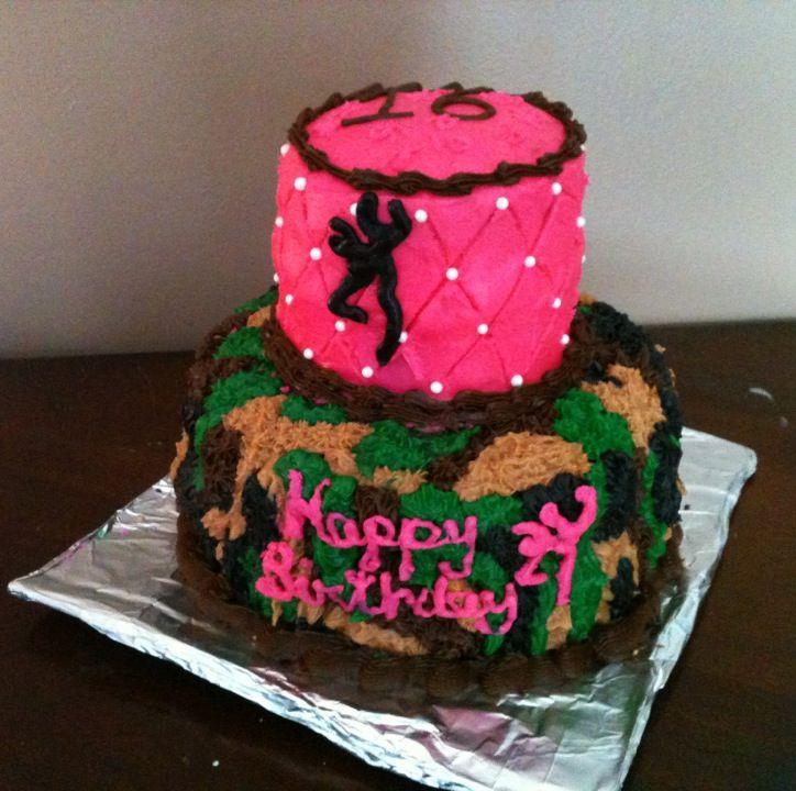 Camo Browning Birthday Cake
