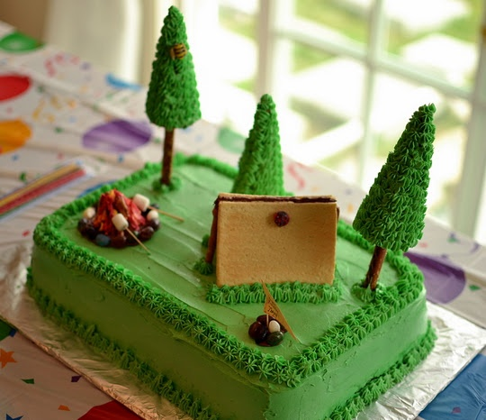 Camping Birthday Cake Ideas