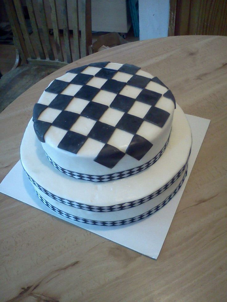 Checkered Flag Birthday Cakes