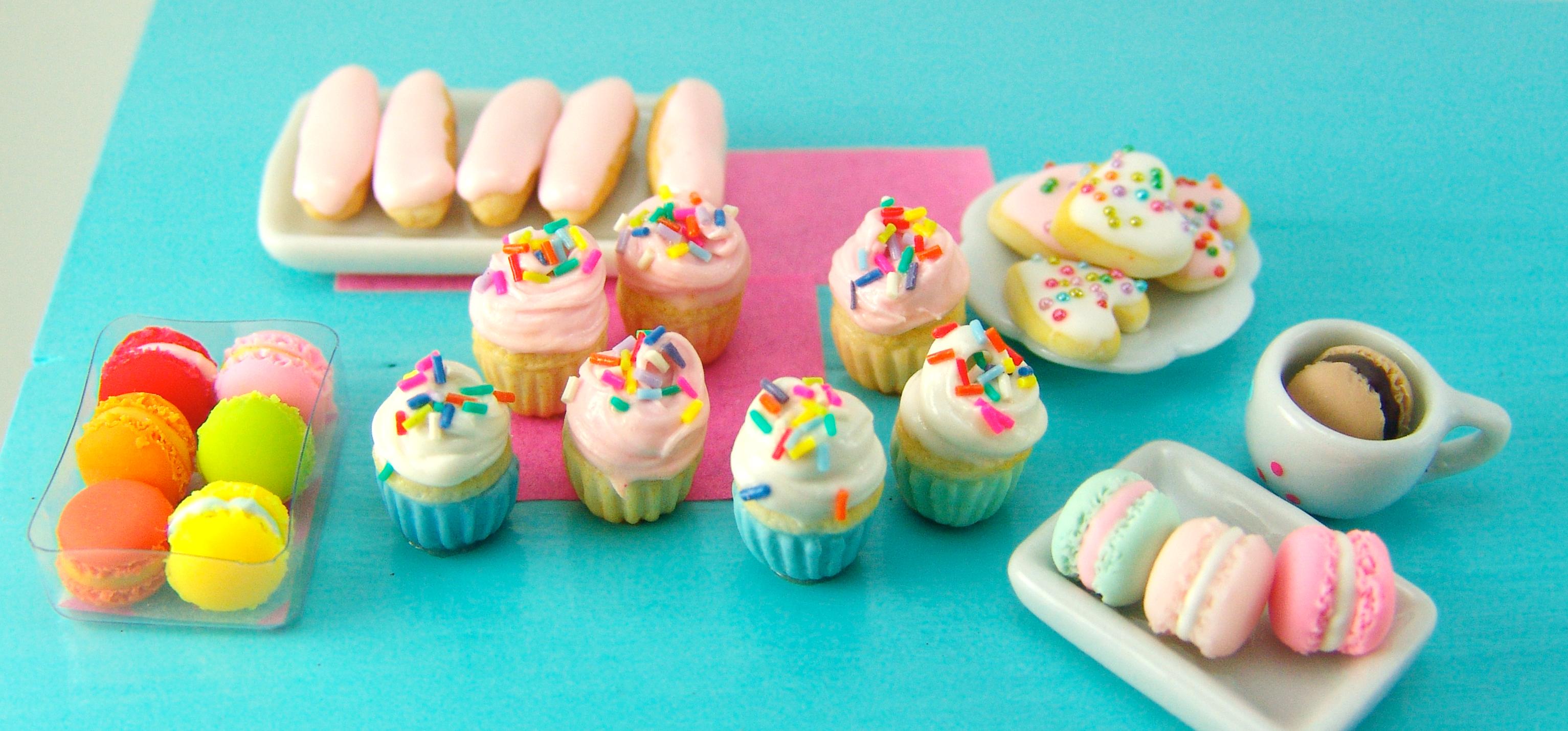 Chocolate Cupcakes with Rainbow Sprinkles