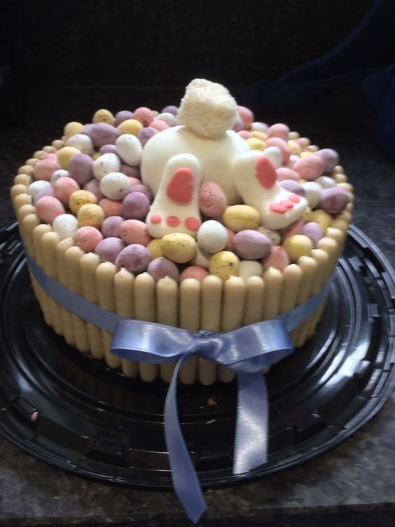 7 Photos of Easter Egg Shaped Mini Cakes