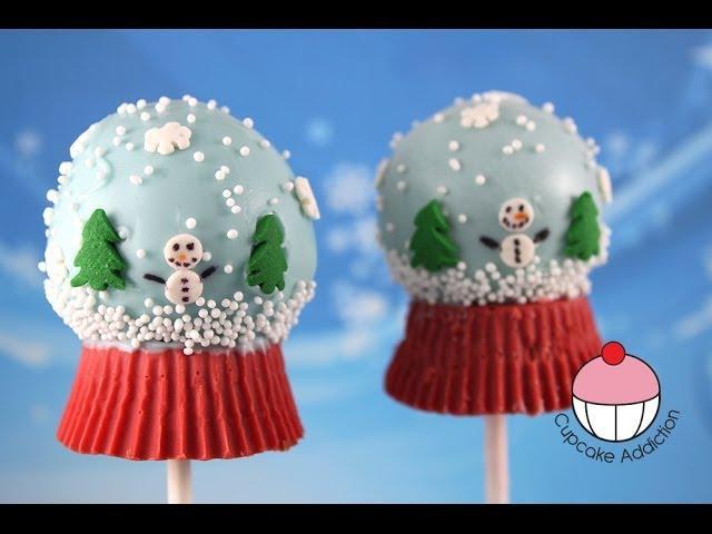 Christmas Snow Globe Cake Pops