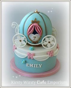 Cinderella Carriage Fondant Cake