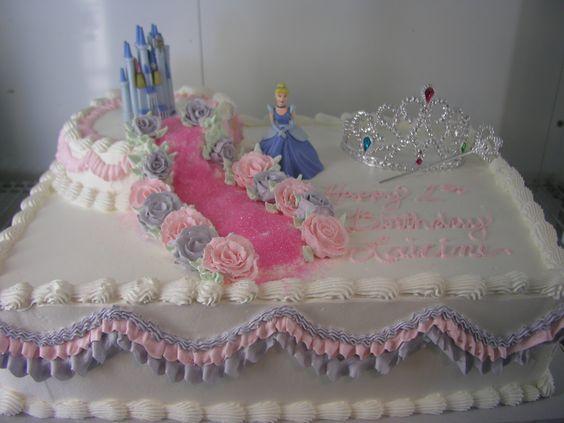 Cinderella Sheet Birthday Cakes