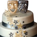 Comedy and Tragedy Masks Cake