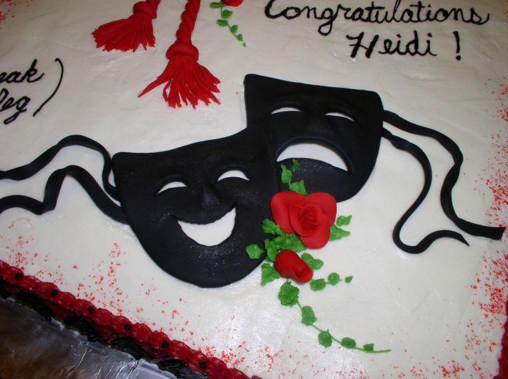 Comedy Tragedy Mask Cake