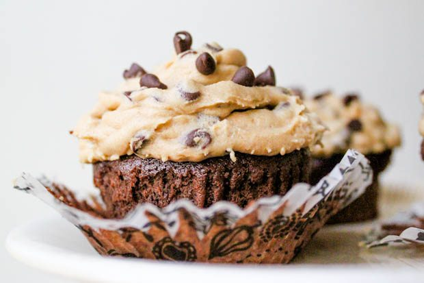 Cookie Dough Brownie Cupcakes with Frosting