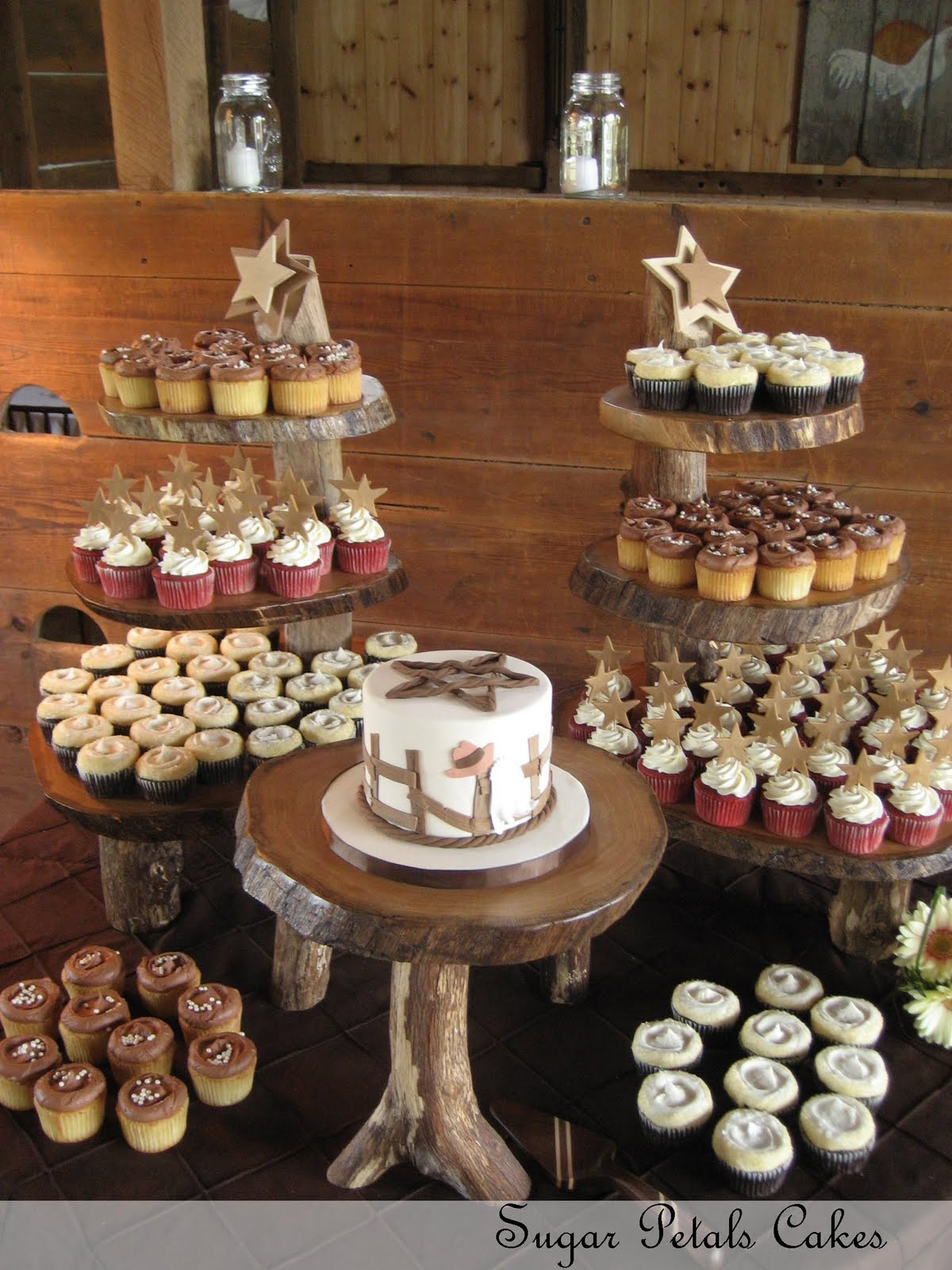 Country Theme Wedding Cupcakes
