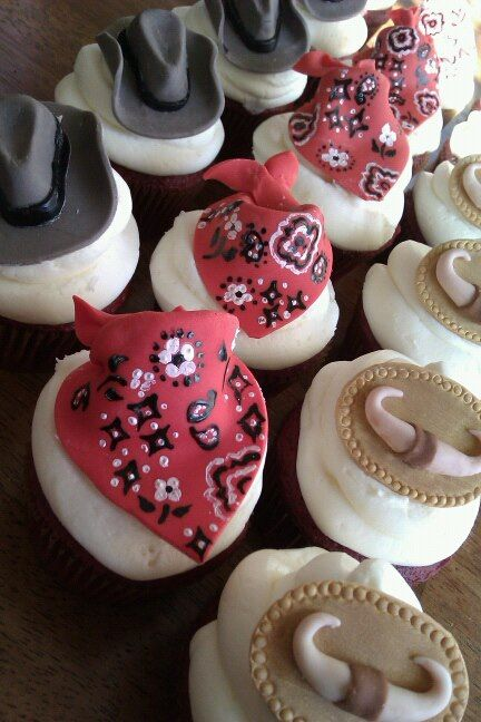 Country Western Themed Cupcakes