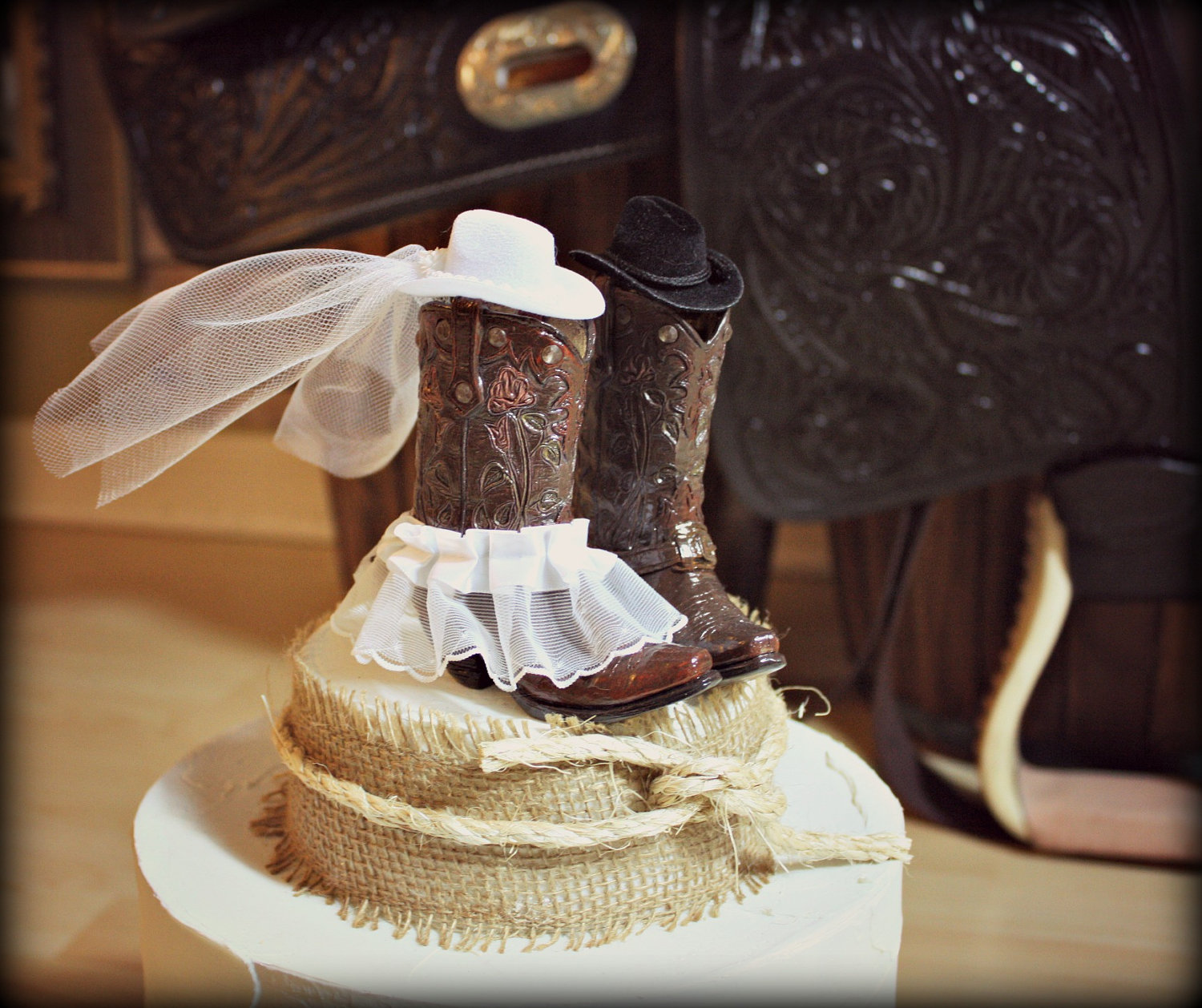 Cowboy Boot Wedding Cake Topper
