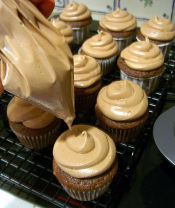 Cupcake Piping Bag with Plastic