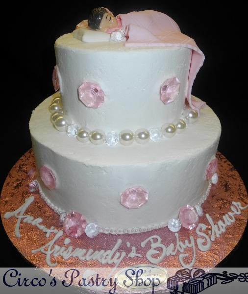 Diamonds and Pearls Baby Shower Cake Ideas