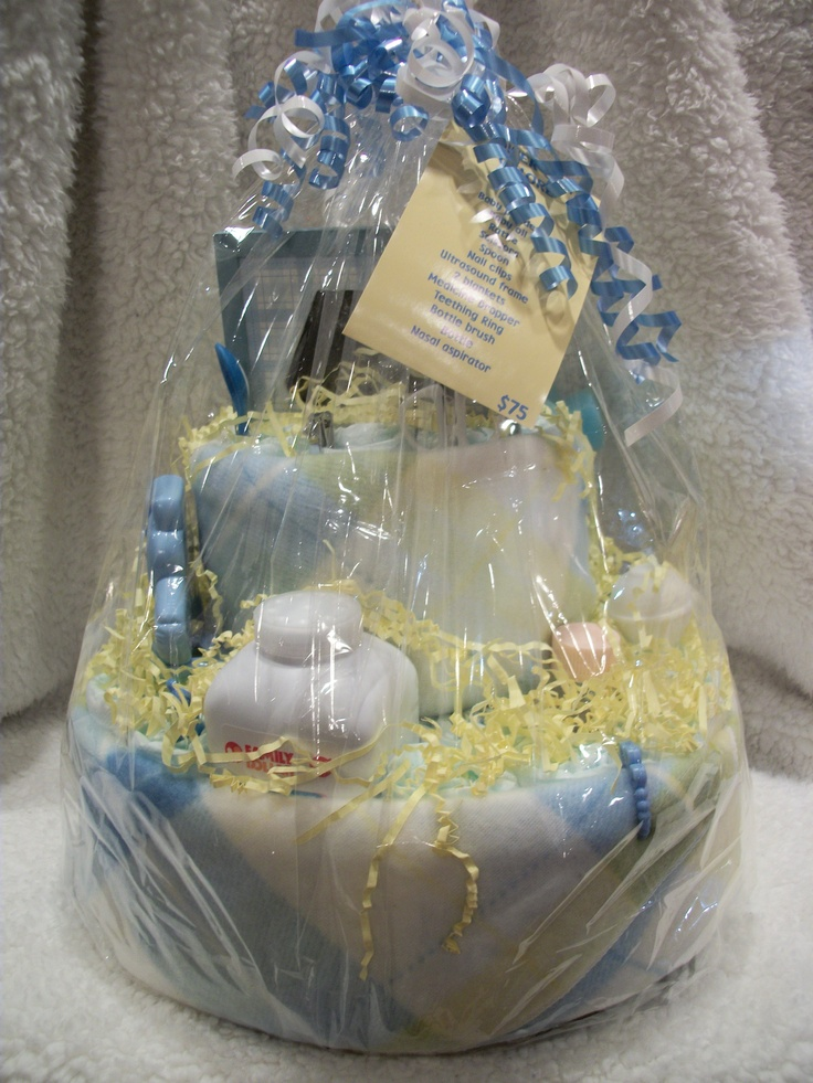 Diaper Cake Yellow Blue