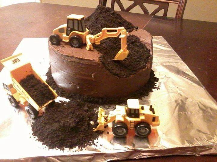 Dirt Truck Birthday Cake