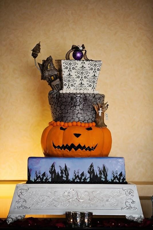 Disney Halloween Wedding Cakes