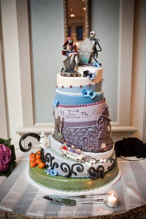 Disney Jack and Sally Wedding Cakes