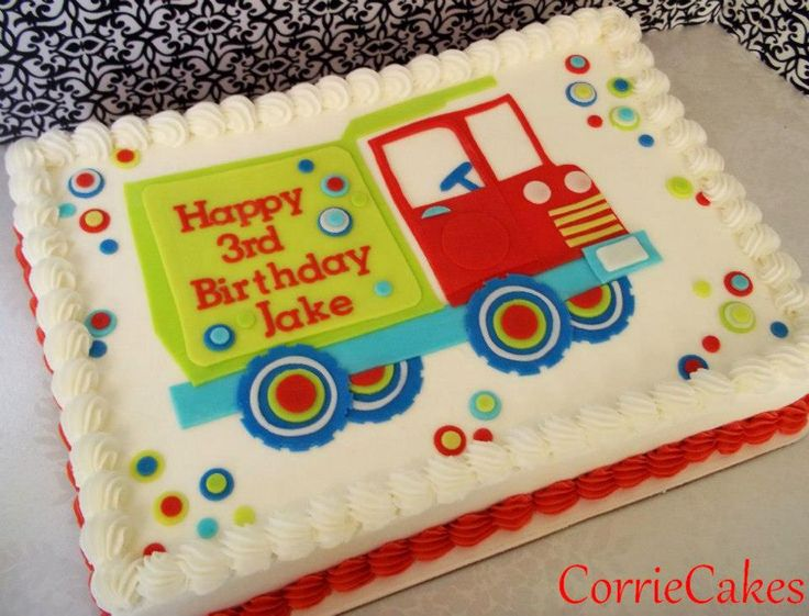 Dump Truck Birthday Cakes for Boys