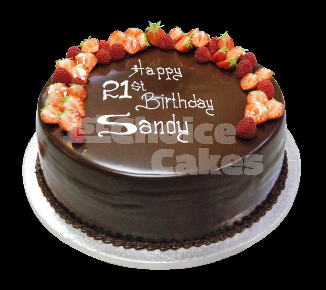 Elegant Chocolate Strawberry Birthday Cakes
